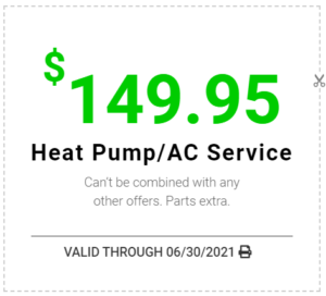 Heat Pump / AC Service Coupon