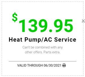 $139.95 Heatpump/AC Coupon